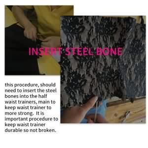Insert Steel Bones Into Latex Waist Trainer