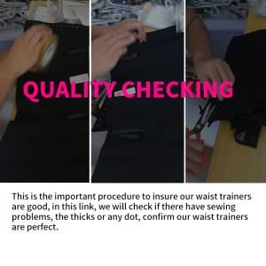 waist trainer quality checking
