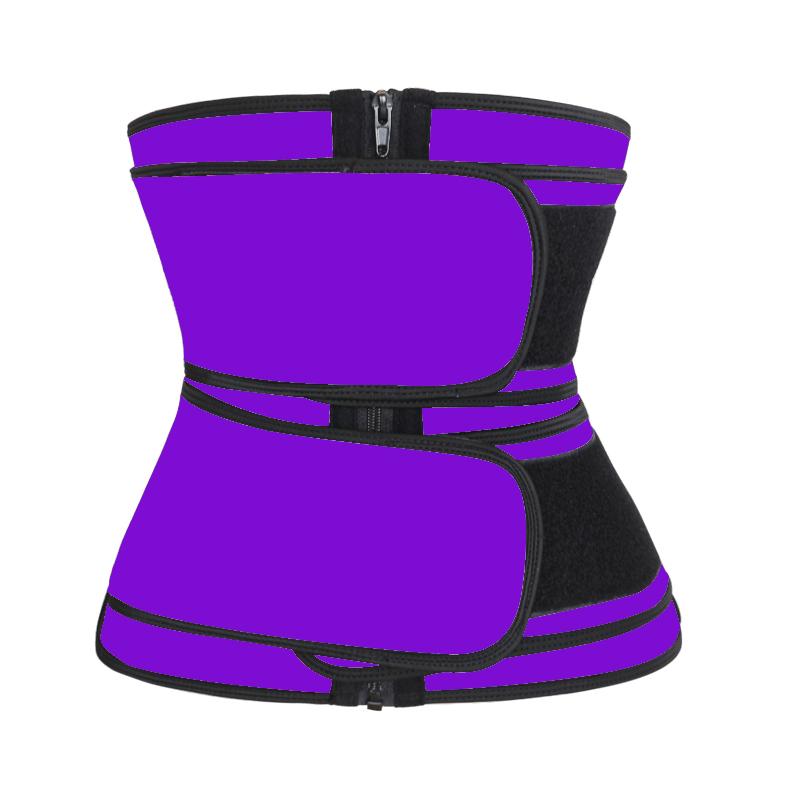 Waist Trainer Double Belt purple