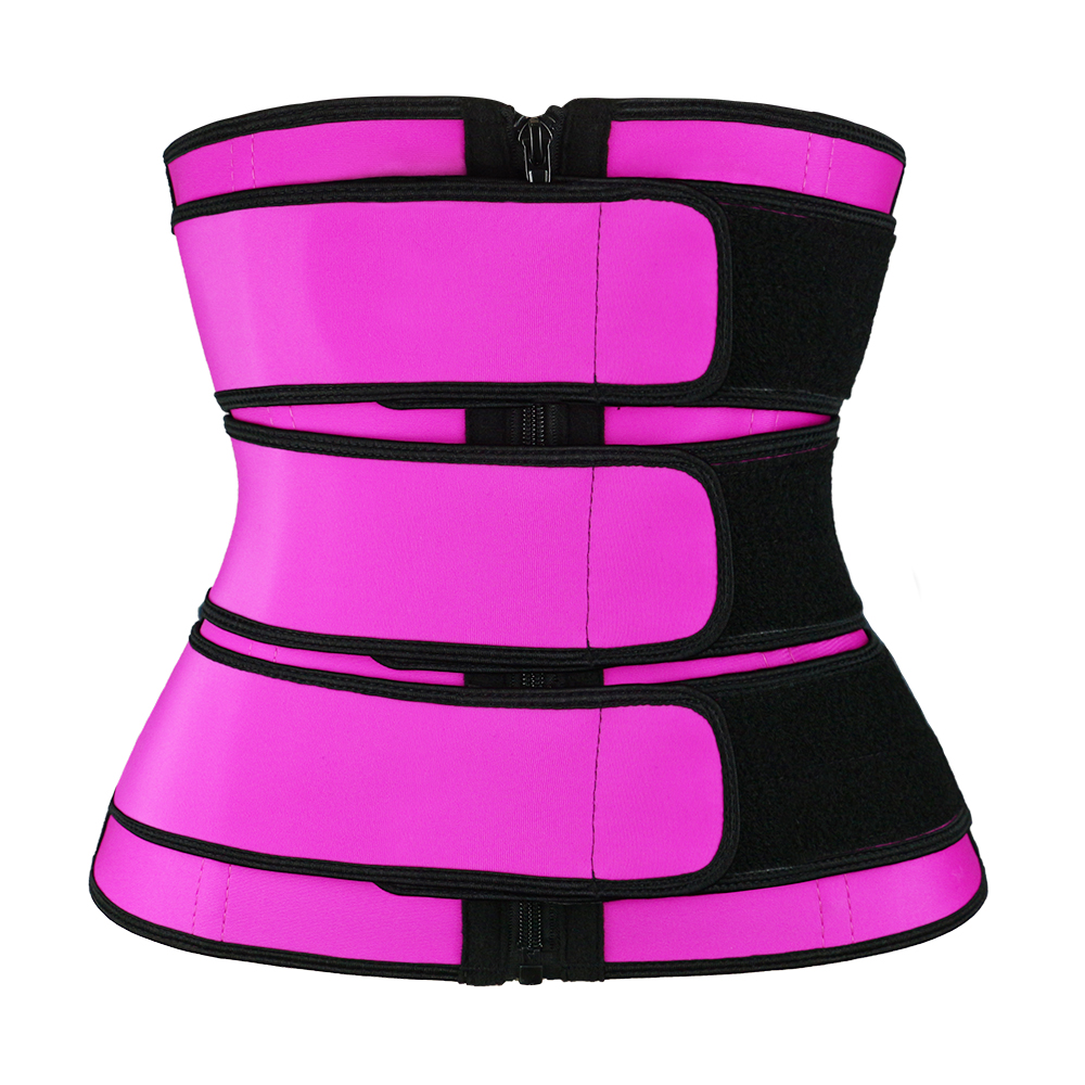 Pink 3 Belts Waist Trainer