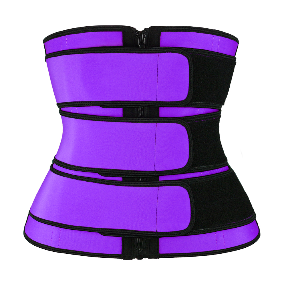 YKK Zipper Waist Trainer purple