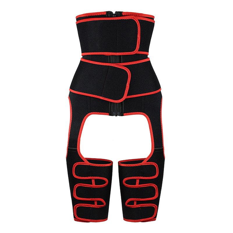 Red Neoprene Double Belt Body Shaper Thigh Shaper