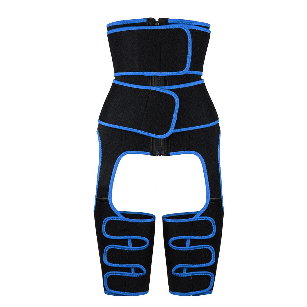 blue Neoprene Double Belt Body Shaper Thigh Shaper