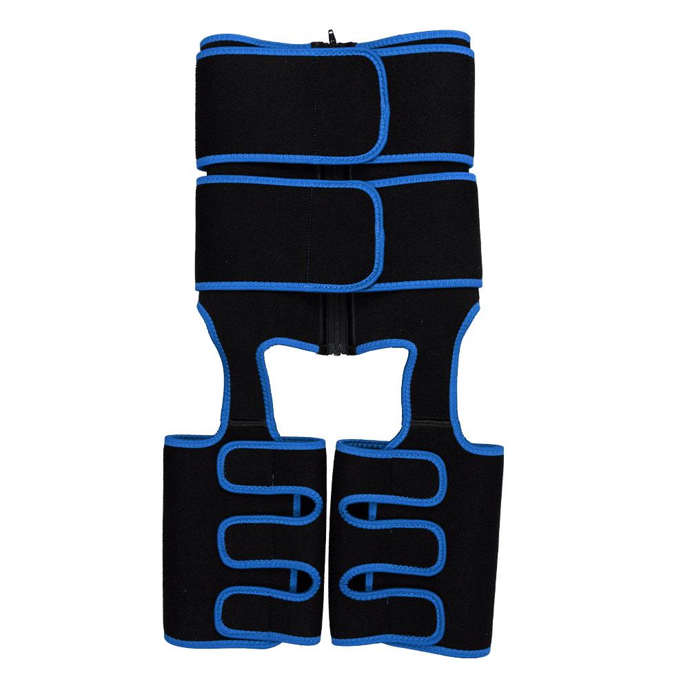 Blue Neoprene Double Belt Body Shaper