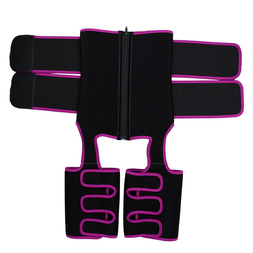 Pink Neoprene Double Belt Body Shaper Thigh Shaper