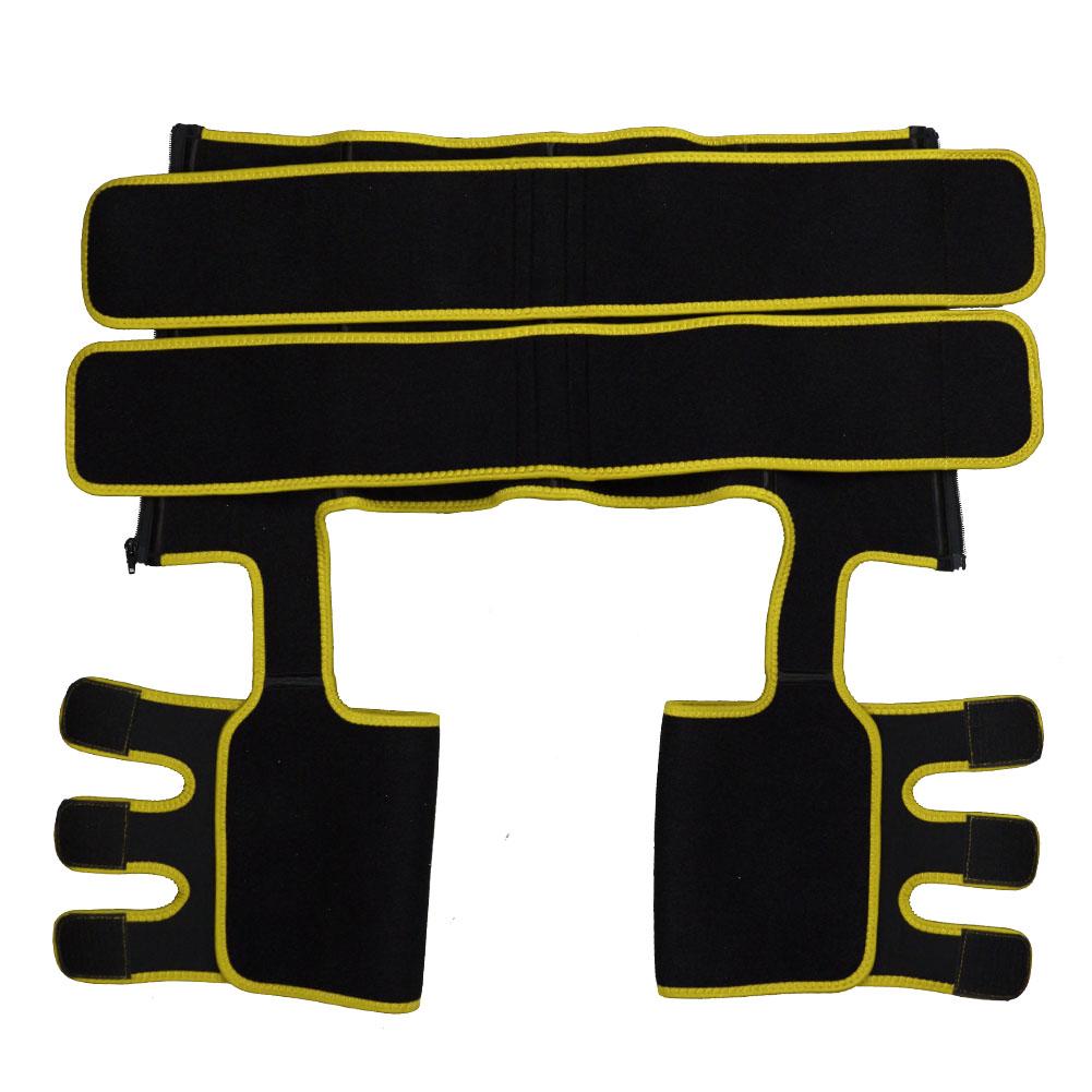 Yellow Neoprene Double Belt Body Shaper Thigh Shaper