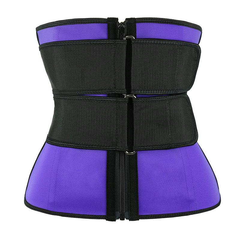 Purple Double Slide Buckle Waist Trainer Belt