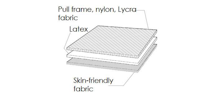 the material of Slide Buckle Waist Trainer Belt