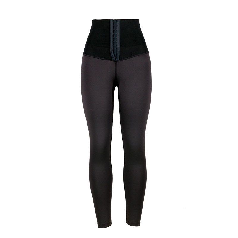The front of high waist trainer shapewear shaping pants