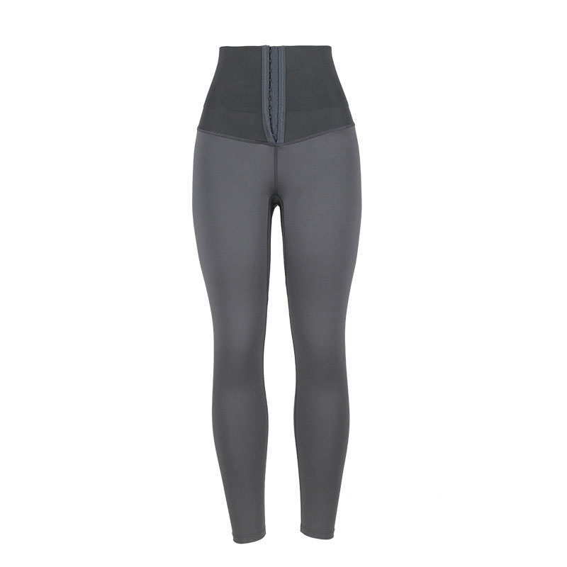 The front of gray high waist trainer shapewear shaping pants