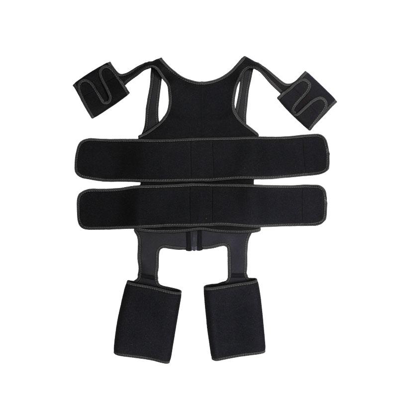 OK Fabric Double Belt Waist Trainer Vest Full Body Shaper