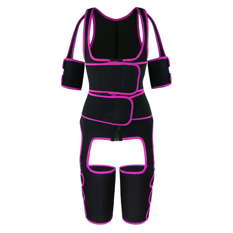 pink oK fabric double belt waist trainer vest full body shaper