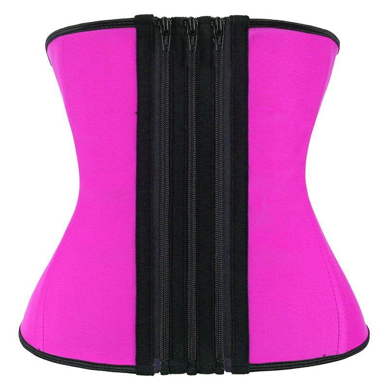 The front of pink waist trainer with detachable zipper strip