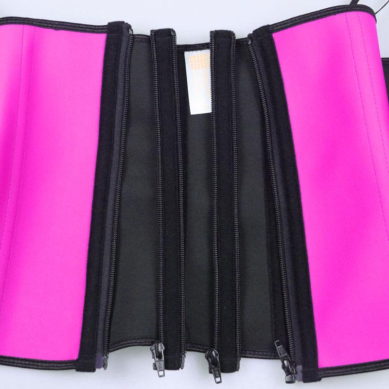 pink waist trainer with detachable zipper strip
