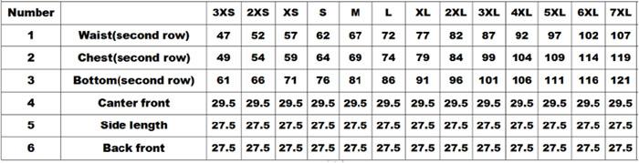 the size chart of Slide Buckle Waist Trainer Belt