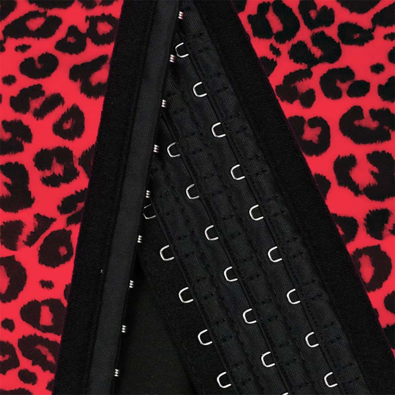 The hook of red leopard print 3 rows of hooks waist trainer supplier