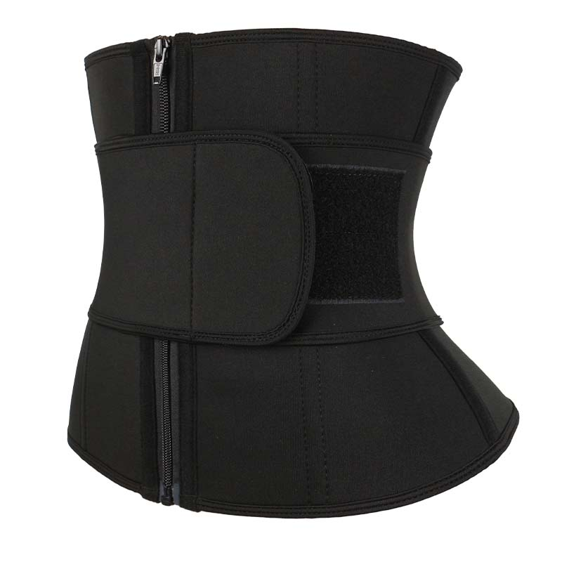 The left of neoprene waist cincher belt with YKK zipper