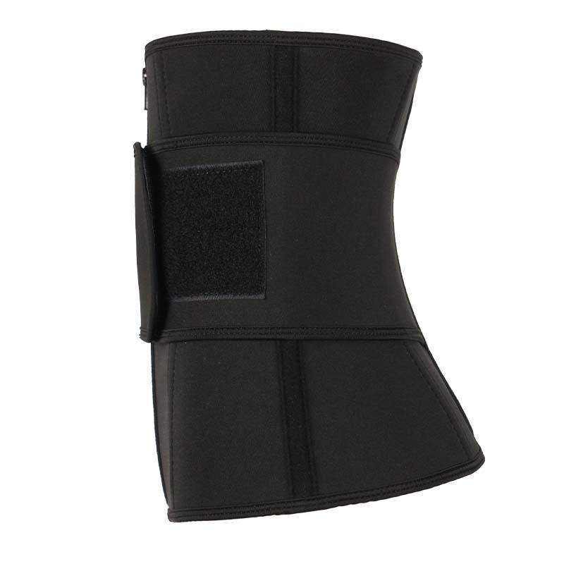 The right of neoprene waist cincher belt with YKK zipper