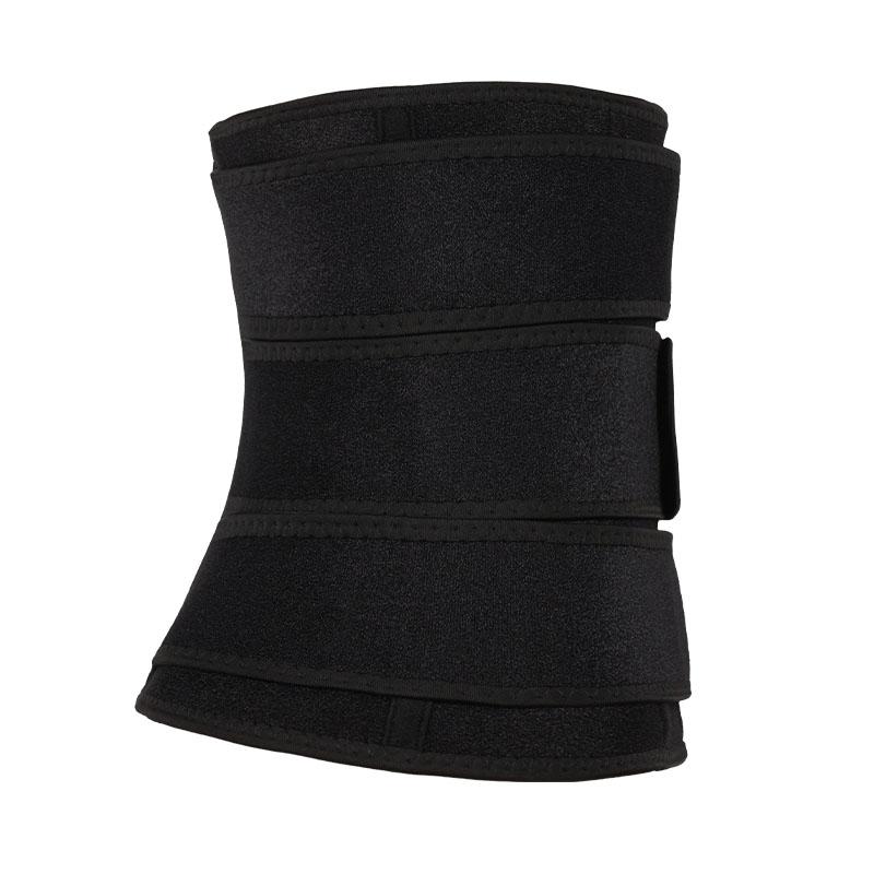 3 belts waist trainer with zipper