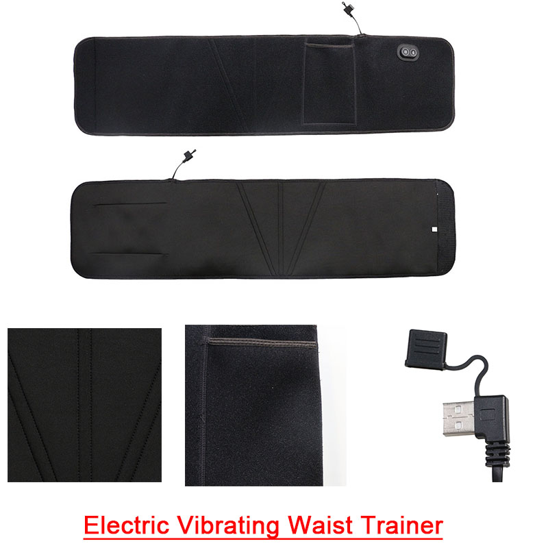 The details of electric vibrating waist trainer