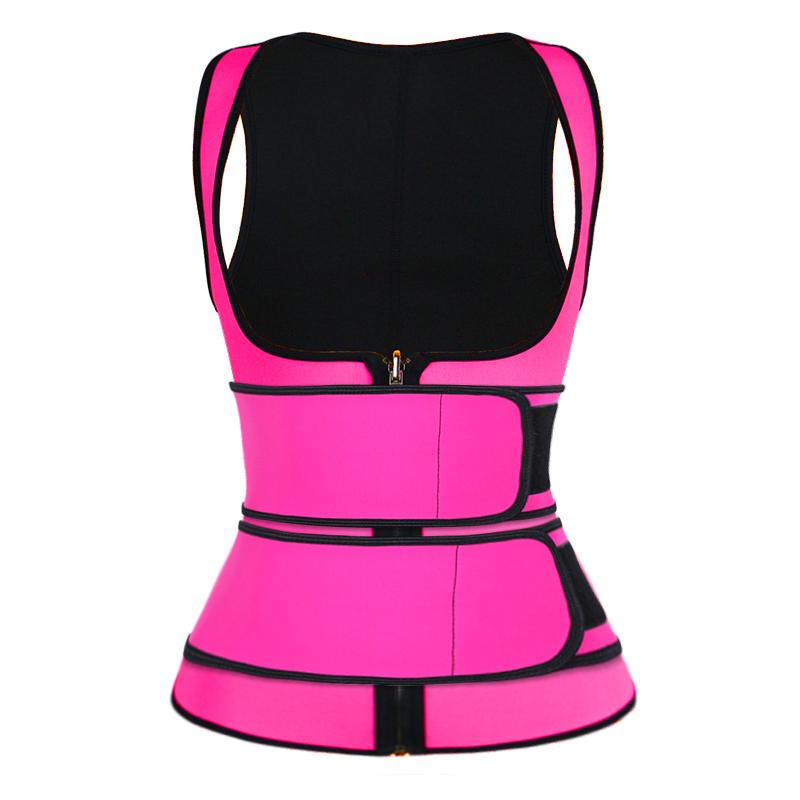 pink double strap waist trainer vest wholesale