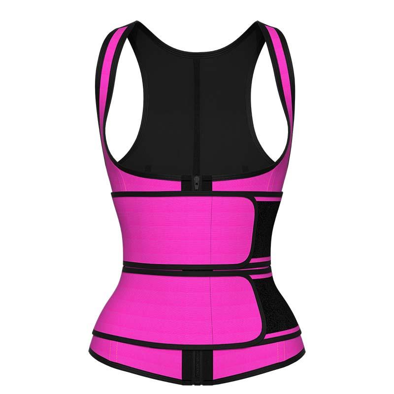 pink Double Strap Waist Trainer Vest