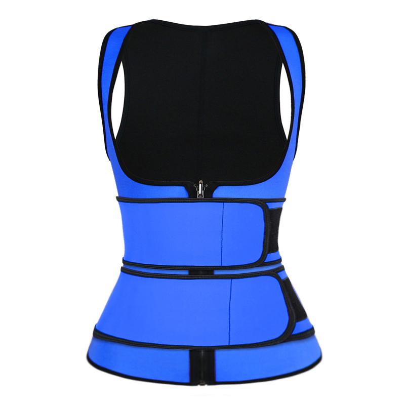 blue double strap waist trainer vest wholesale