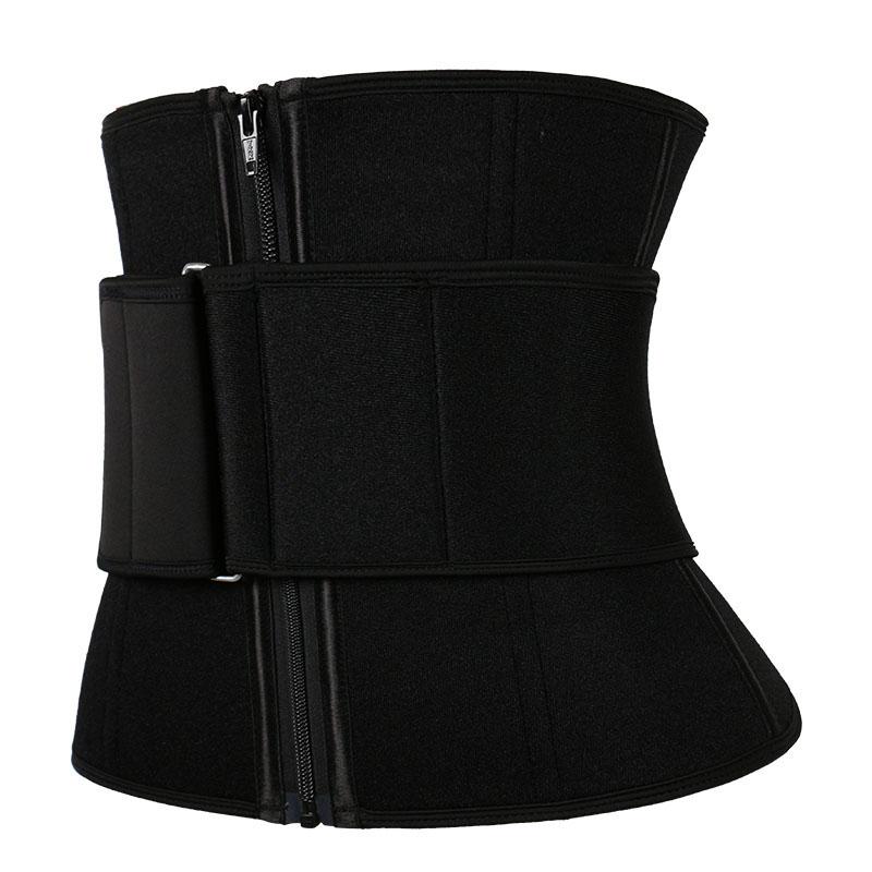 The left of neoprene waist trainer with belt