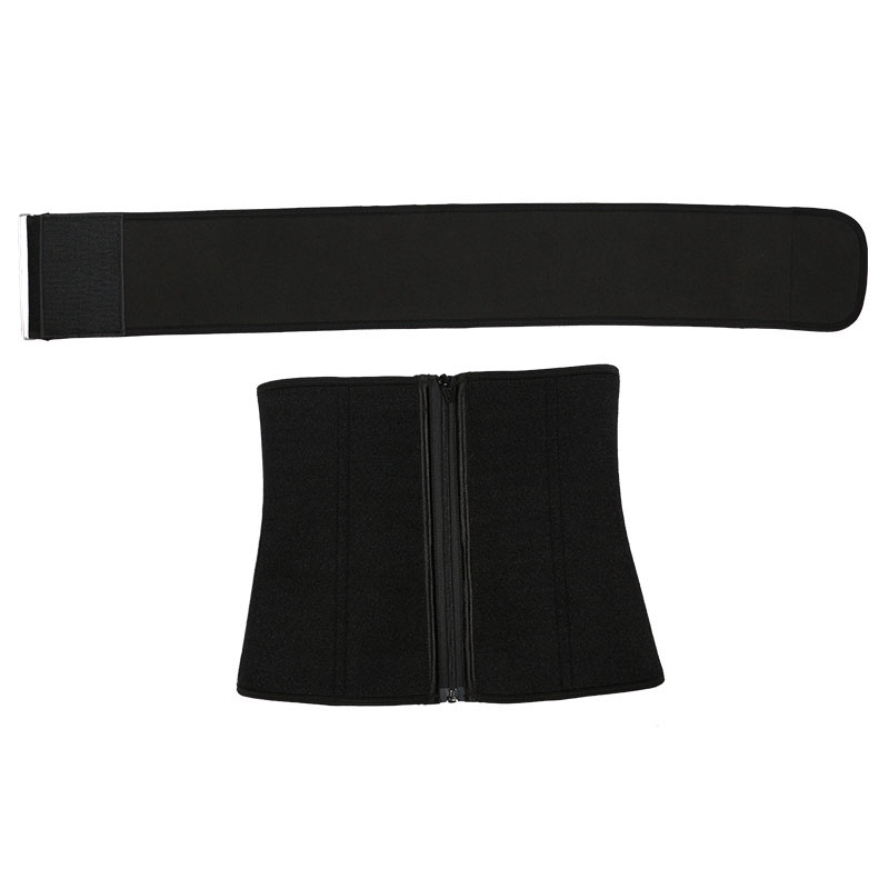 Neoprene waist trainer with belt