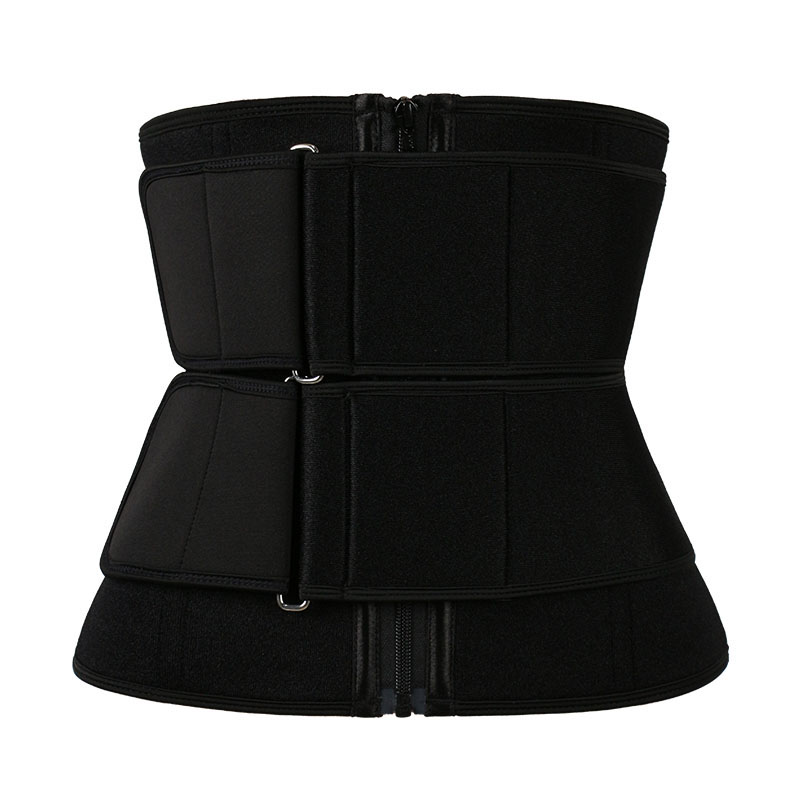 11.5 Inch 9 Steel Bone Pulley Double Belt Waist Trainer