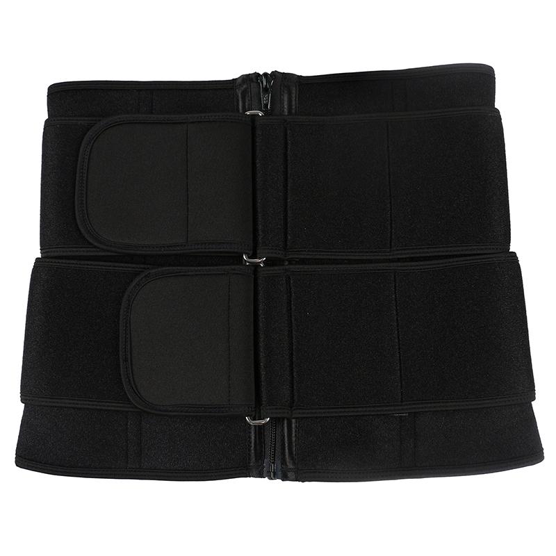 9 steel bone pulley double belt waist trainer