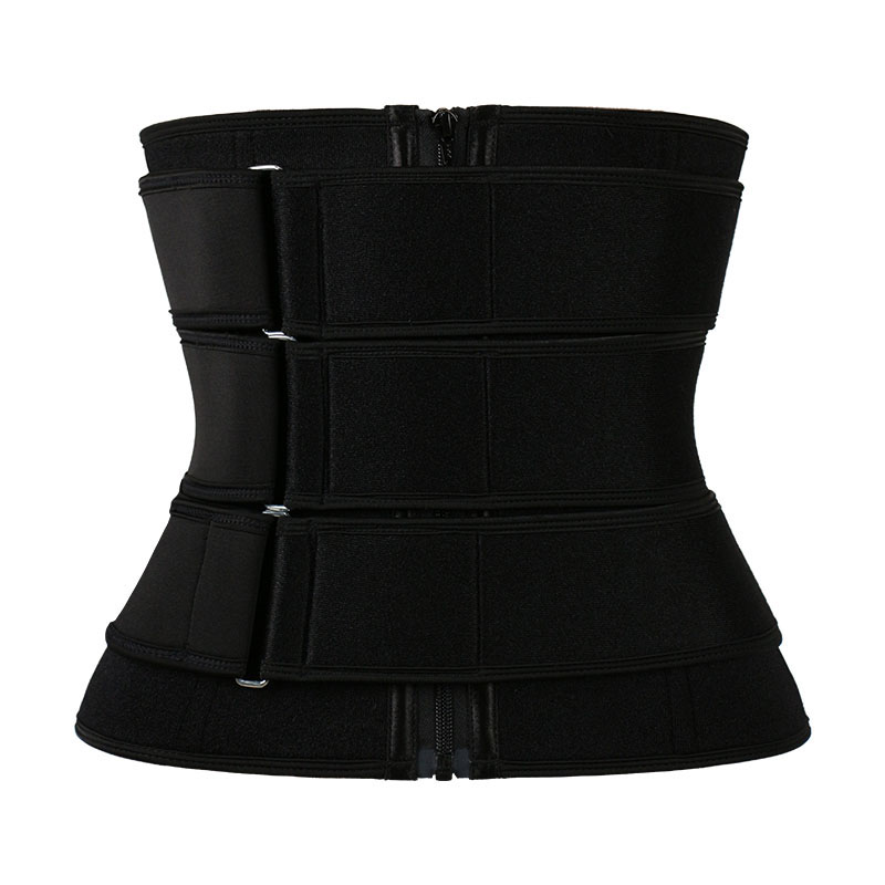 9 Steel Bone Pulley Neoprene 3 Belt Waist Trainer With Zipper