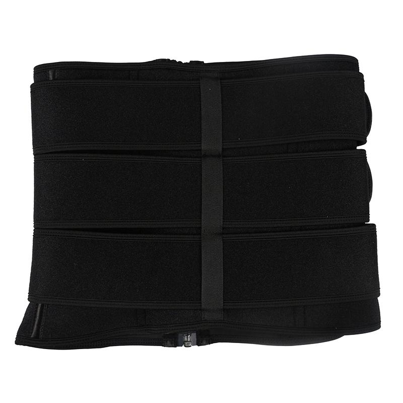 pulley neoprene 3 belt waist trainer with zipper