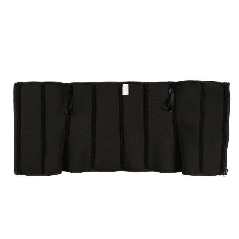 The inside of YKK zipper elastic three belt waist trainer