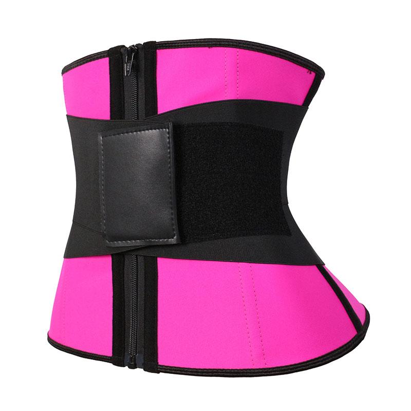 The left latex leather label elastic belt waist trainer
