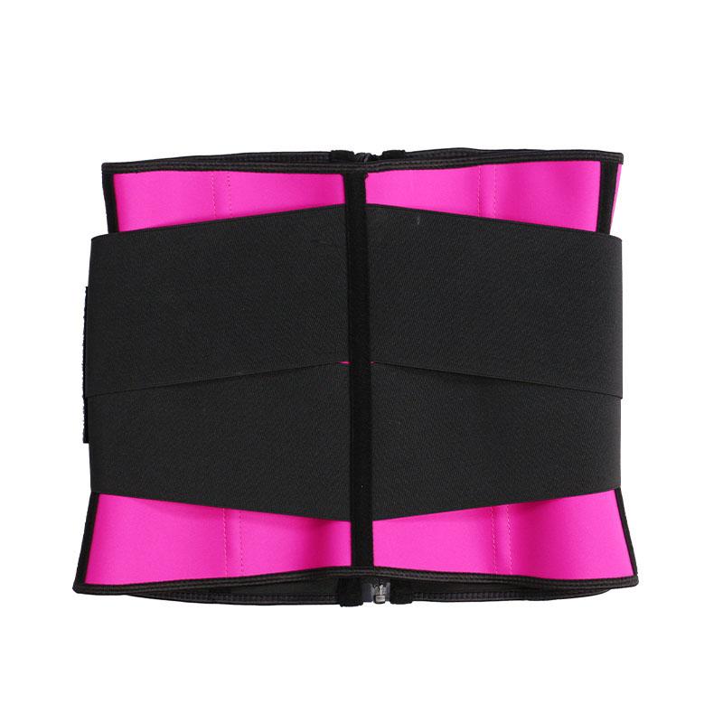 leather label elastic belt waist trainer