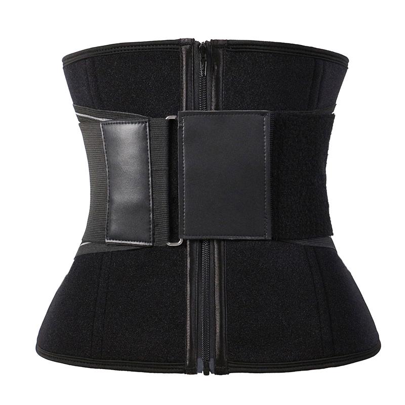 Customized YKK Zipper Exercise Waist Trainer With Elastic Belt