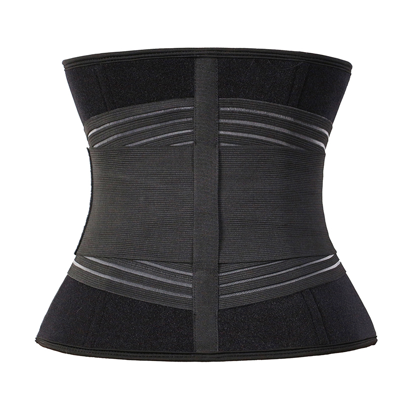 The back of exercise waist trainer with elastic belt