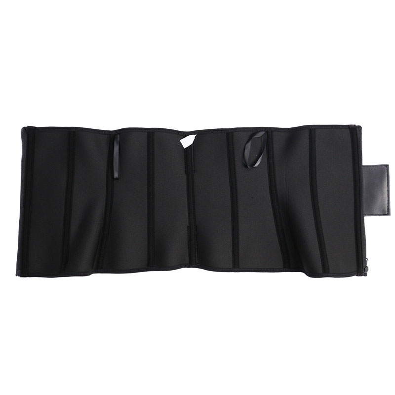 The inside of exercise waist trainer with elastic belt