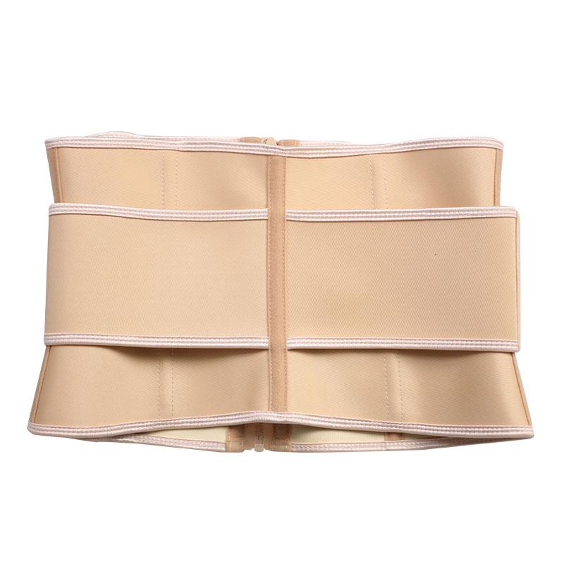 The back of short torso waist trainer 9 steel bone latex waist belt