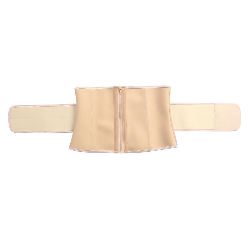 The front of 9 steel bone latex waist belt