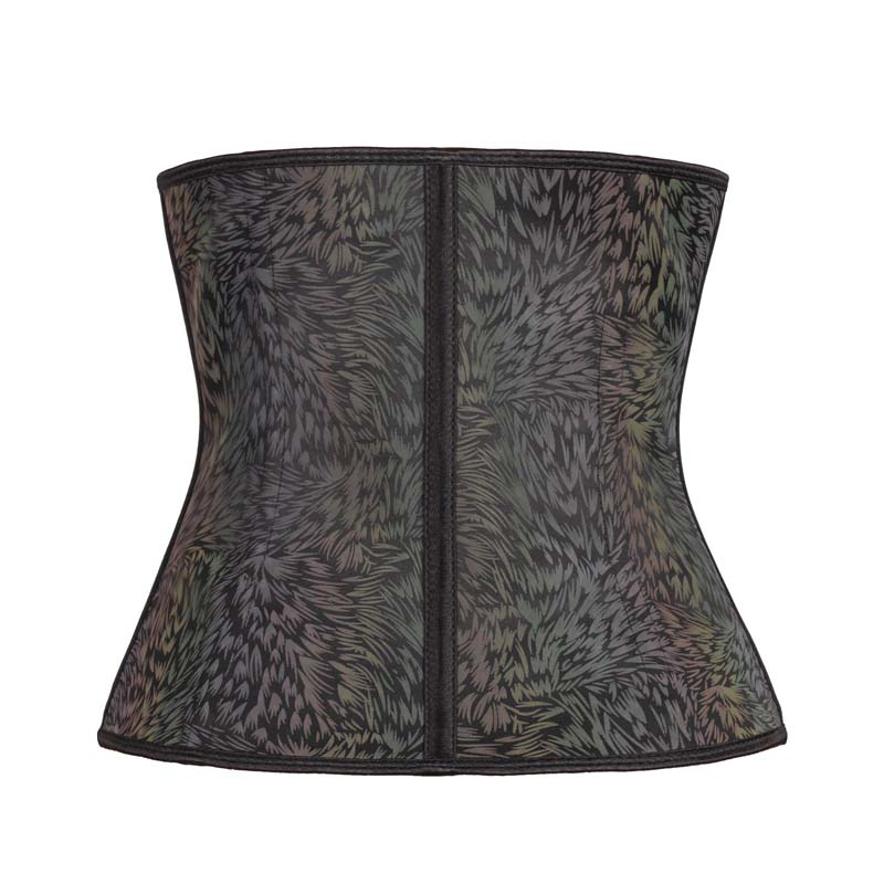 The back of 11.5-inch Color Grass Coated Reflective Waist Trainer