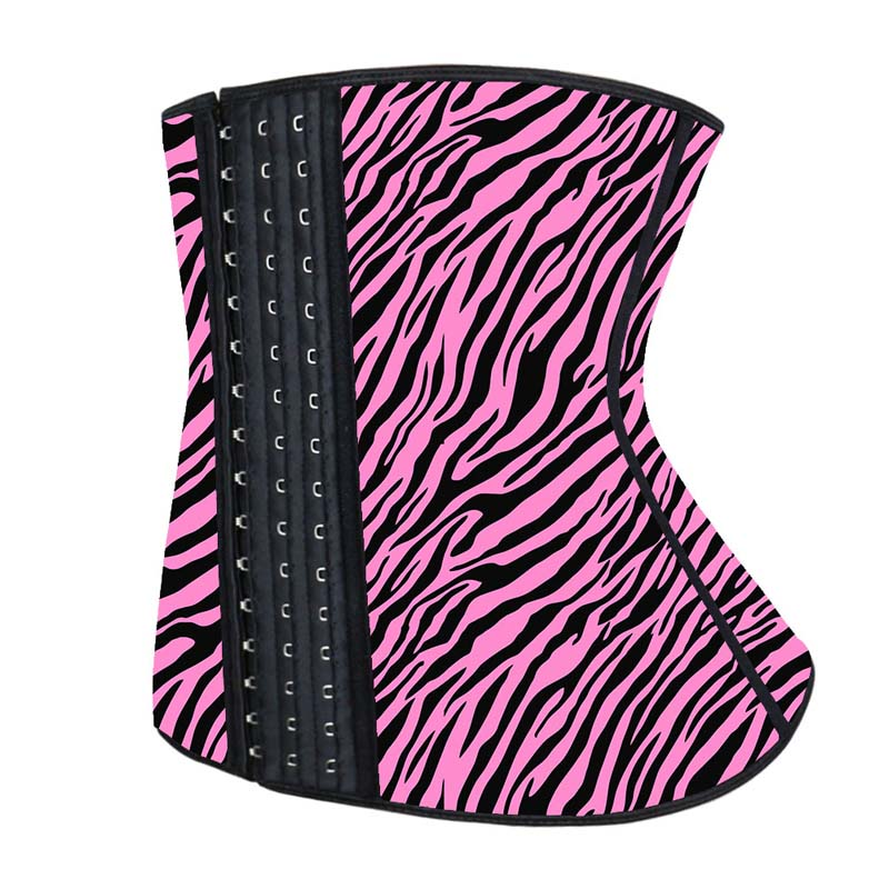 The left of 3 Rows Hook Women Latex Waist Trainer