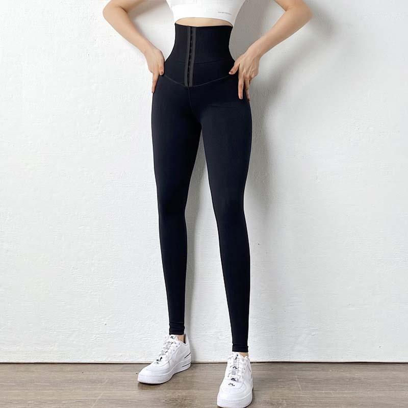Custom High Waisted Black Leggings Body Shaper Pants