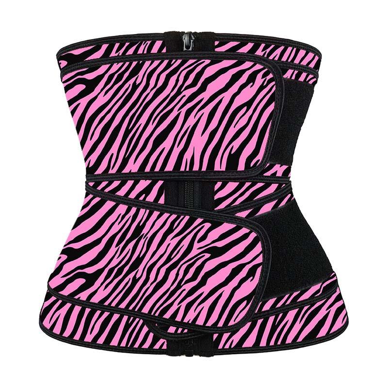 Wholesale Ykk Zipper Pink Waist Trainer With Double Belt