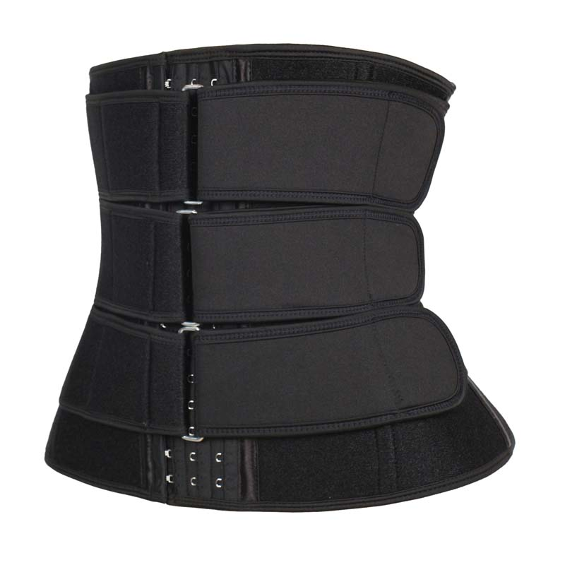 The left of 11.5-inch 3 Hook Waist Trainer With Three Belt
