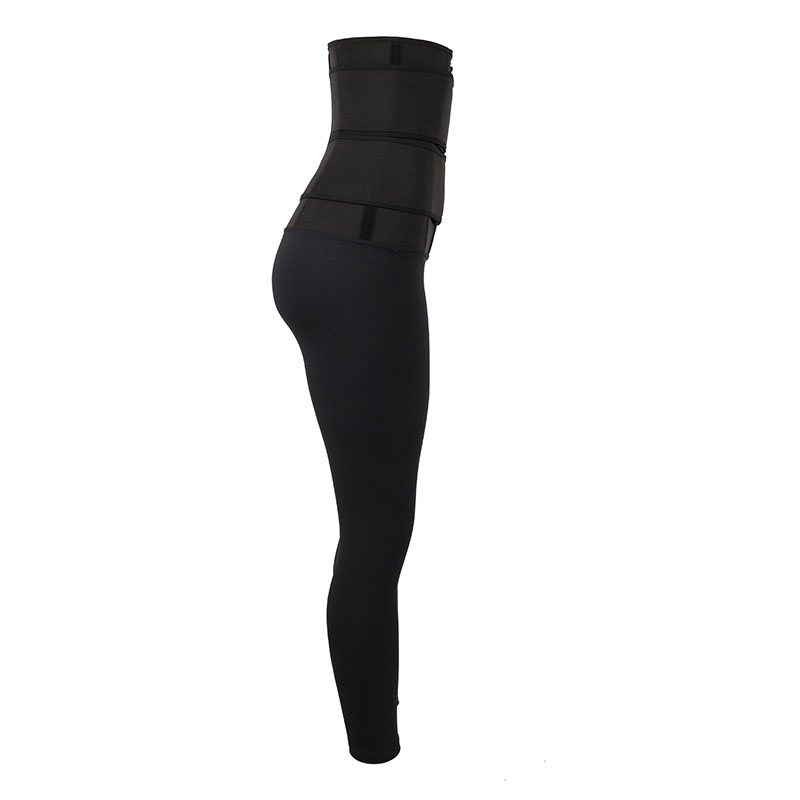 the right of High Waist Shaper Pants With Double Belt