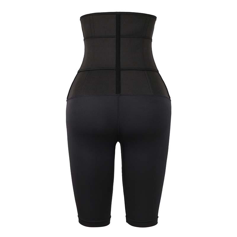 The back of 9 Steel Bones Single Belt Five-Point Tummy Shaper Pants