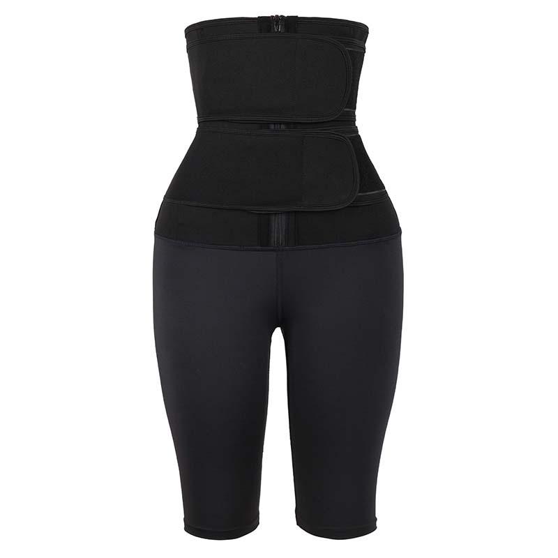 Double Belt Five-Point Slimming Pants Body Shaper