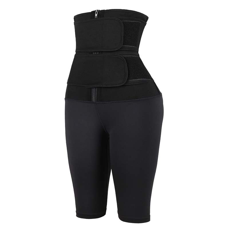 The left of Double Belt Five-Point Slimming Pants Body Shaper